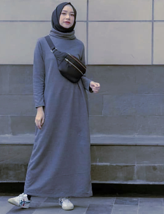Dress Remaja Muslimah Model Polos