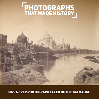 The First Ever Photograph Taken Of The Taj Mahal