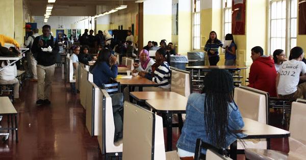 School cafeteria in New York City