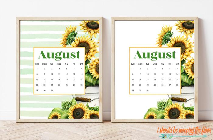Sunflower Calendar