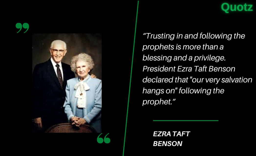 So, here are some quotes by Ezra Taft Benson with quotes images.