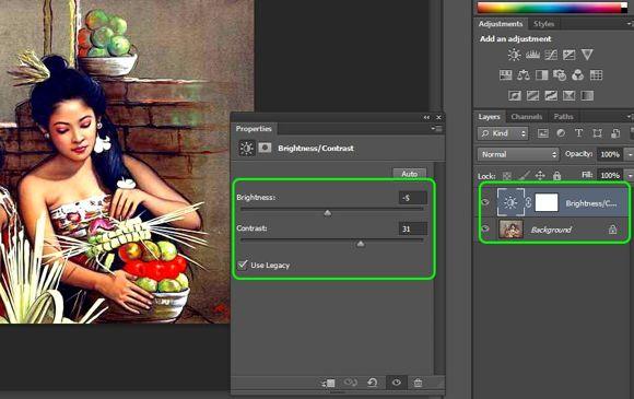 Menggunakan Adjustment Layer Photoshop