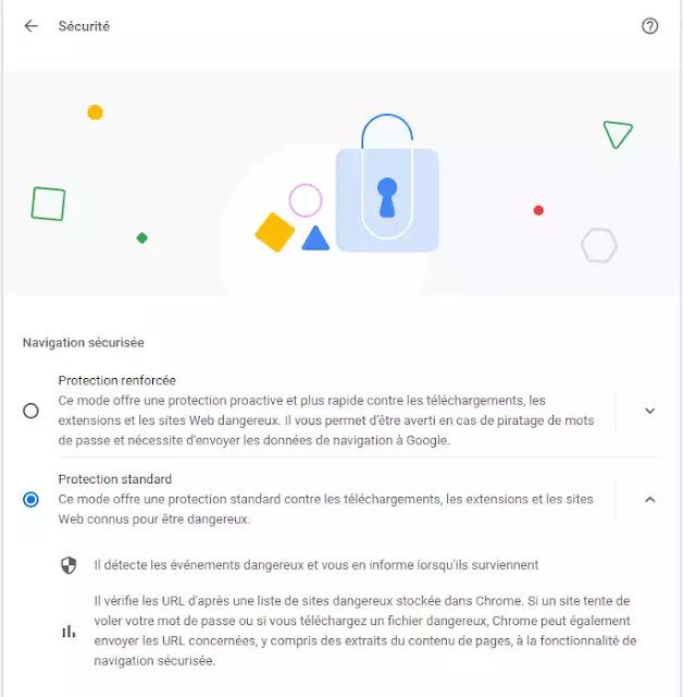 navigation Enhanced Safe google chrome