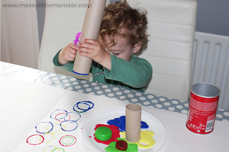 shape activities for toddlers - painting circles