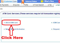 how to block sbi atm card if lost