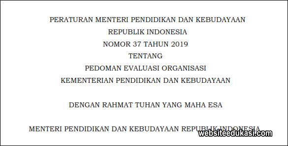Pedoman Evaluasi Organisasi Kemendikbud 2019