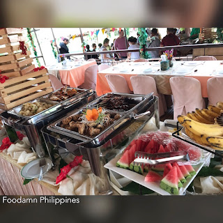 lunch buffet at The Loboc River Cruise and Floating Restaurant