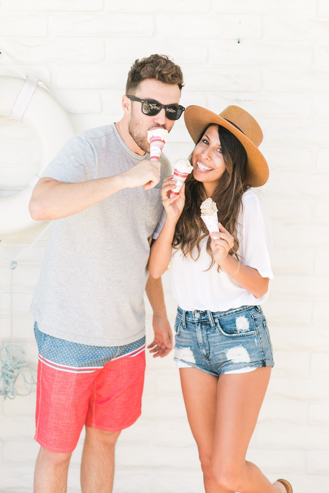 palm springs birthday, personalized ice cream cone, birthday party ideas, pursuit of shoes