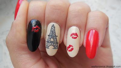 Francuskie pocałunki - zdobienie paznokci