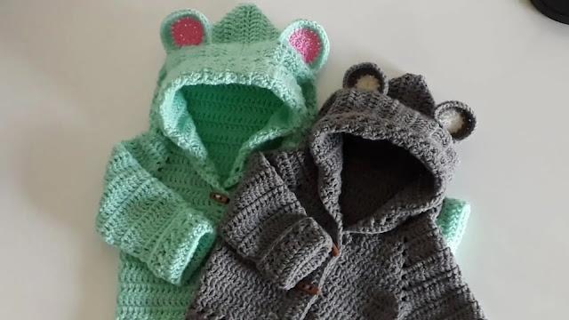 Capucha de Bebe Tejida a Crochet Paso a Paso