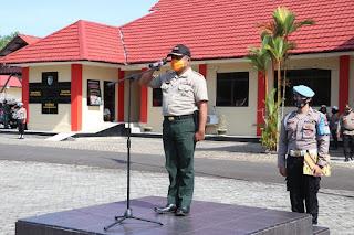 Polres Lingga bersama Instandi Terkait Gelar Apel Kesiapsiagaan Penangulangan Karhutla