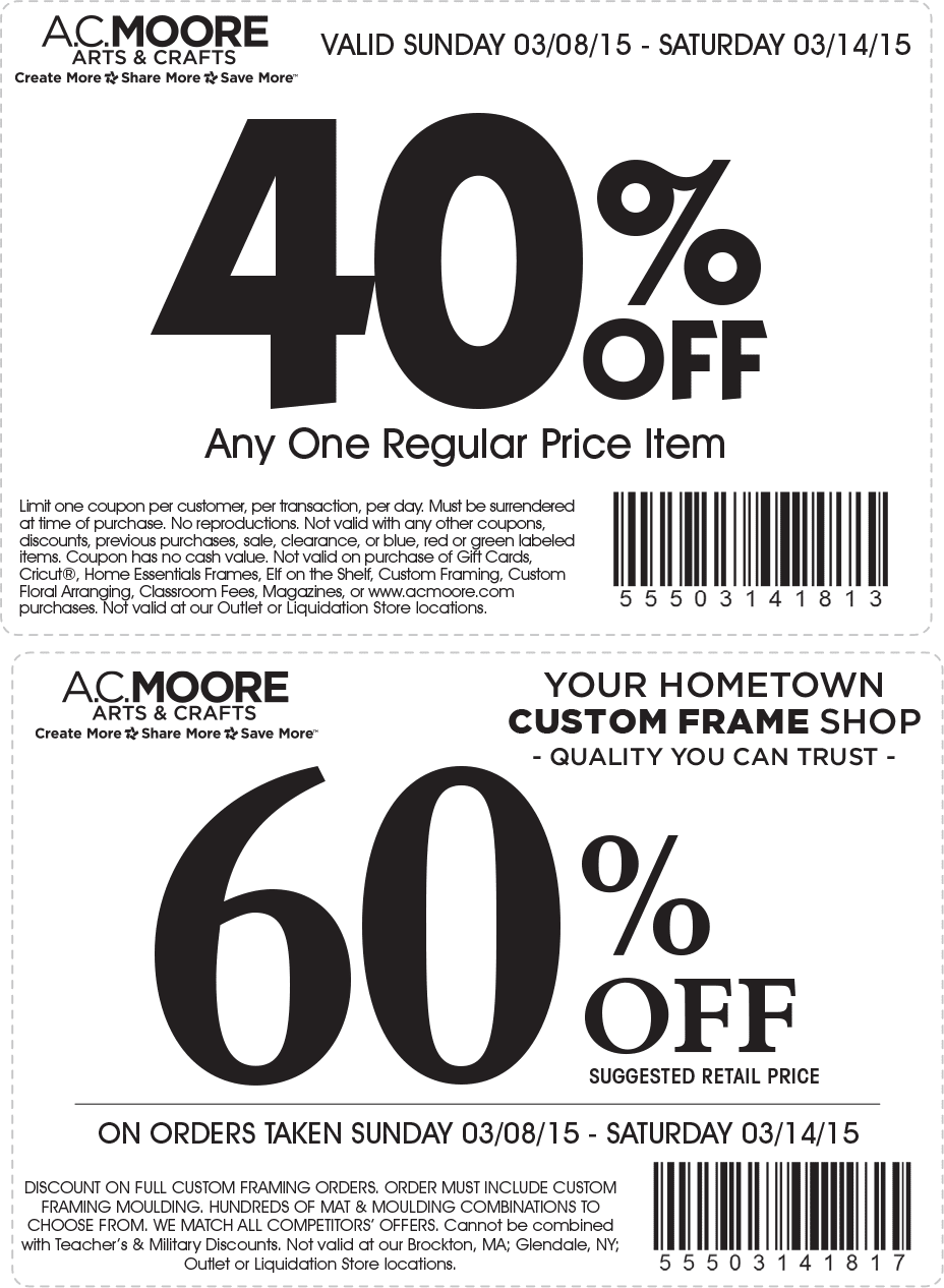 graphic about Ac Moore Printable Coupon referred to as Coupon for ac moore keep / Chase coupon 125 funds