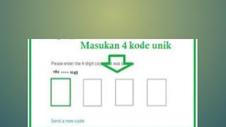 Kode verifikasi pendaftaran grab