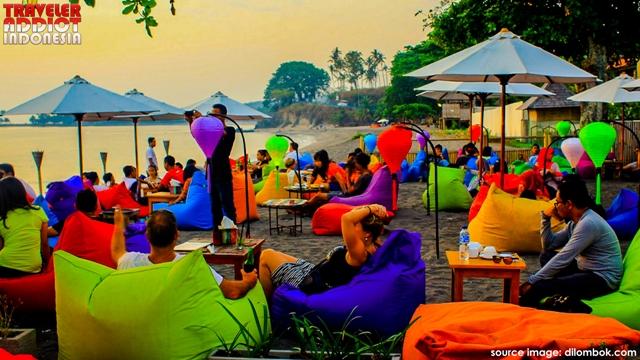 Senggigi Beach, located in West Lombok