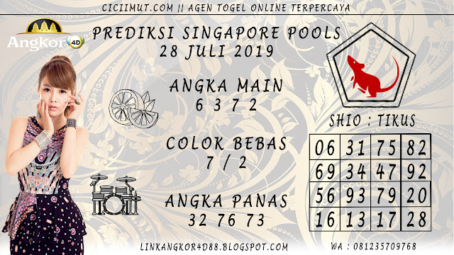 PREDIKSI SINGAPORE POOLS 28 JULI 2019
