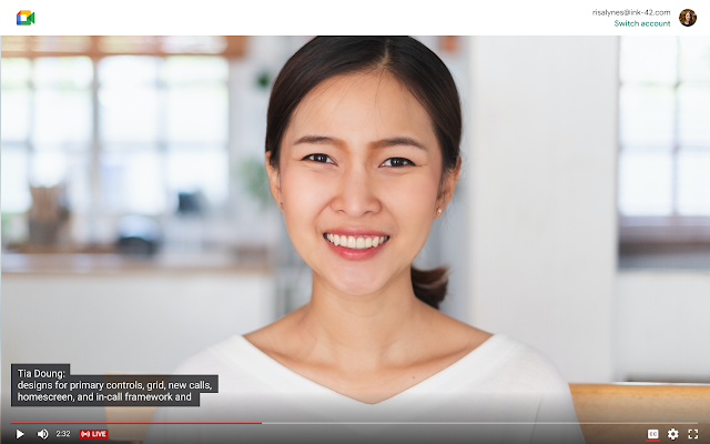 Enhancing live streams in Google Meet with captions and cross-domain live streams 1