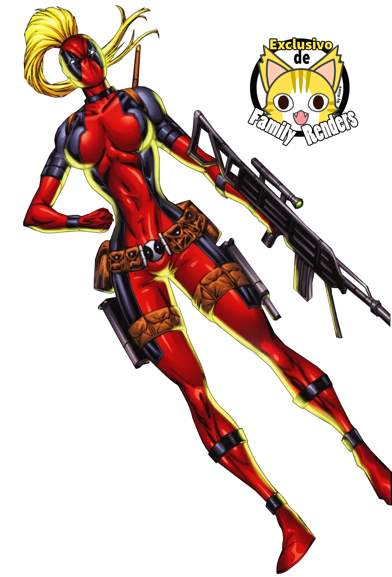 render lady deadpool