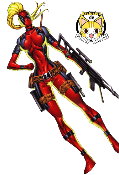 render lady deadpool