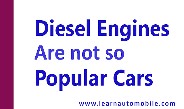 Why diesel engines are not so popular in cars