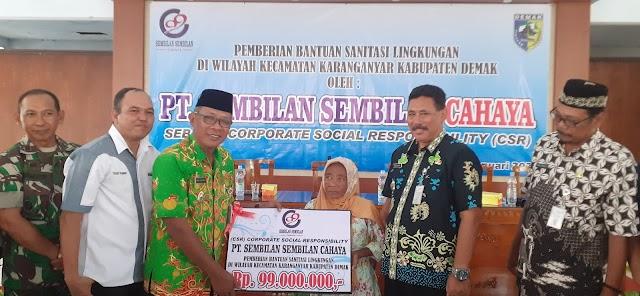 PT. Sembilan-Sembilan Cahaya Berikan Bantuan Sanitasi Untuk 4 Desa Sasaran*