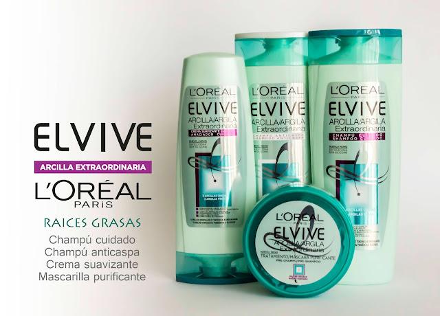 Nueva gama Arcilla Extraordinaria de L'Oreal Elvive. Raices grasas temblad...