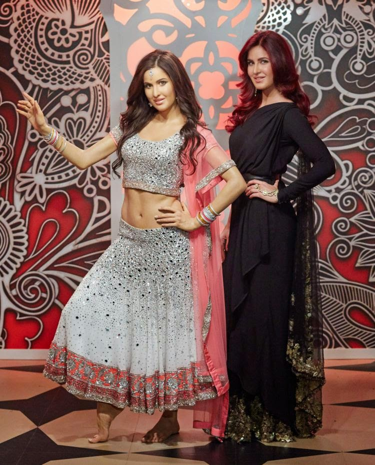 Katrina Kaif poses next to her Madame Tussauds wax statue in London