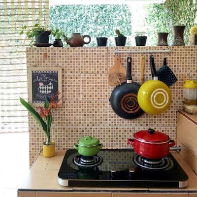 Gambar Motif Keramik Dinding Dapur Minimalis