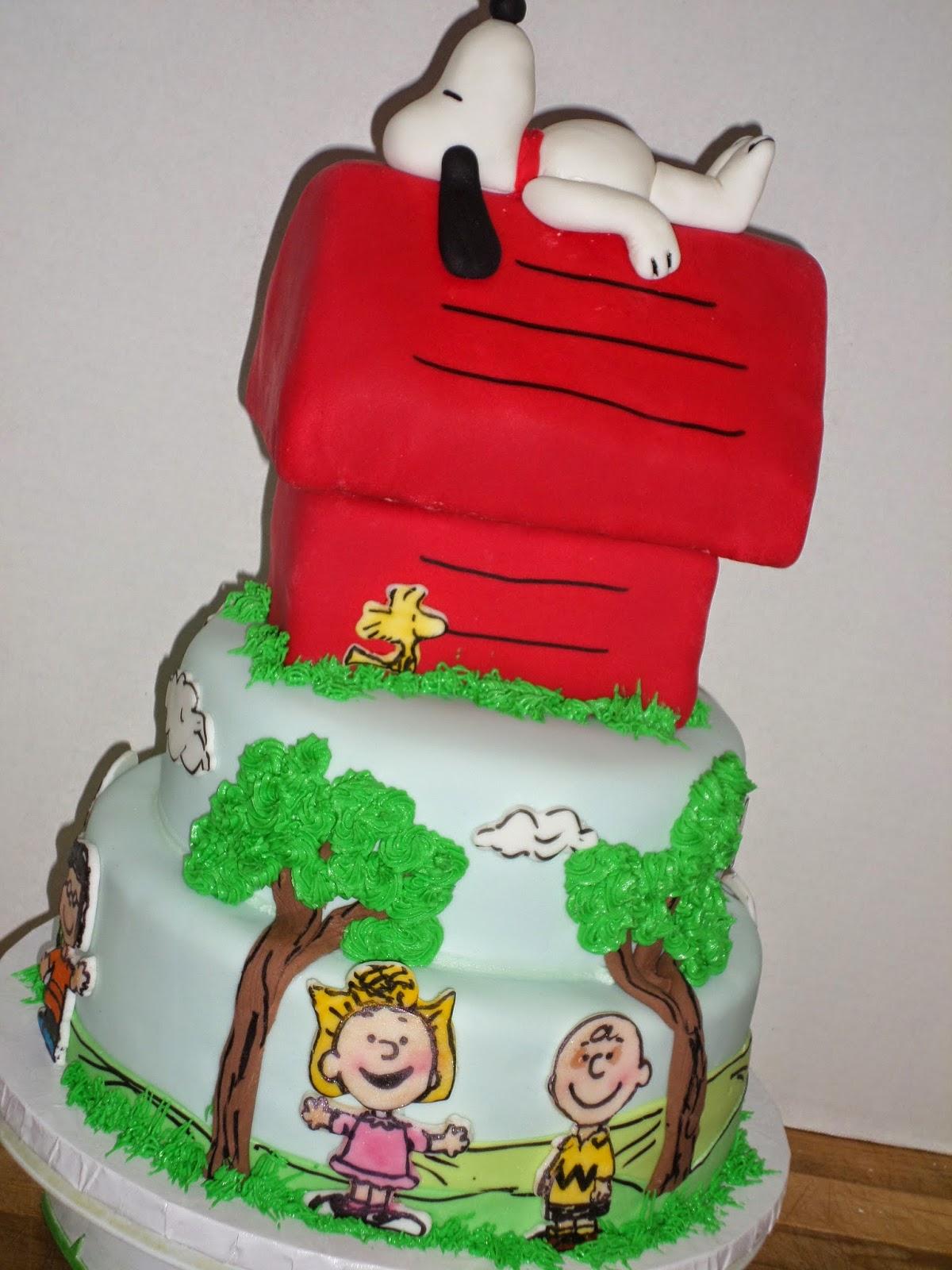 Snoopy Peanuts Birthday Cake Ideas And Designs