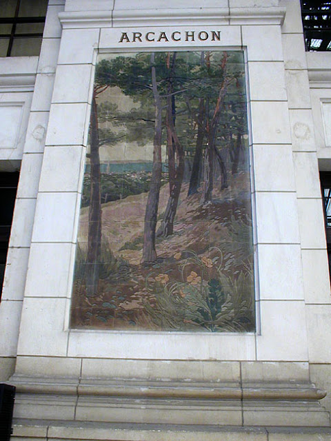 Tile panel in Tours train station, Indre et Loire, France. Photo by Loire Valley Time Travel.
