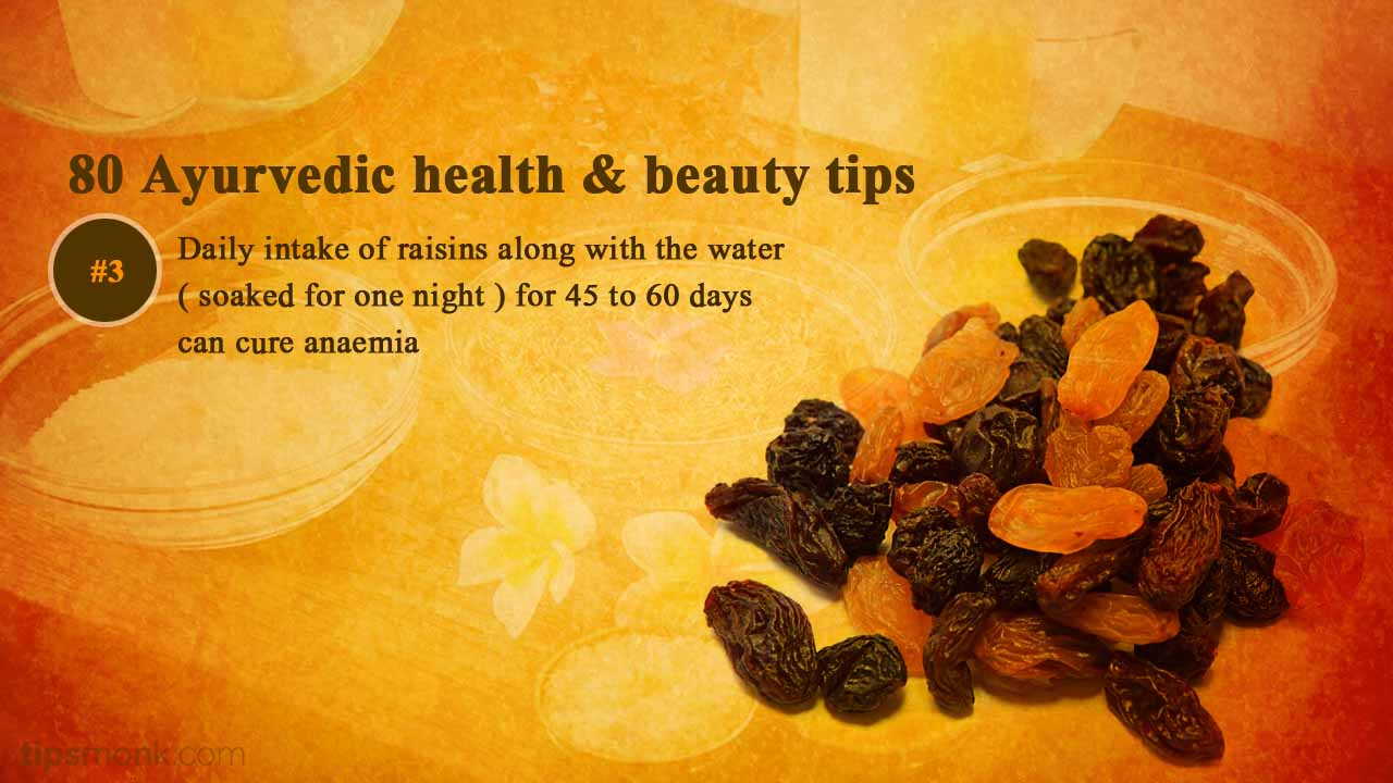 Ayurvedic health tips for anaemia from Ayurveda books - Tipsmonk