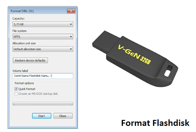 cara format flashdisk di laptop windows