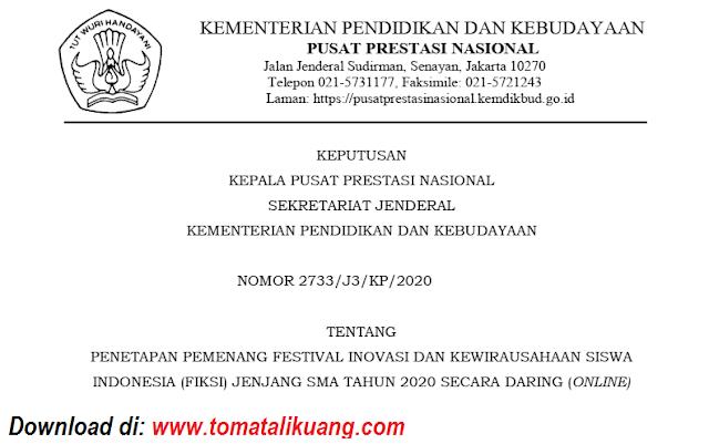 sk pemenang fiksi jenjang sma tahun 2020 secara daring online pdf tomatalikuang.com