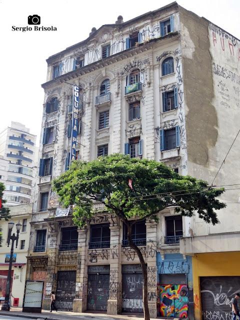 Vista ampla do Antigo Hotel Columbia Palace - Centro - São Paulo