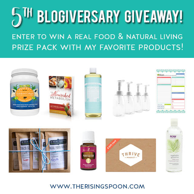 My Five Year Blogiversary + Favorite Things Prize Pack Giveaway