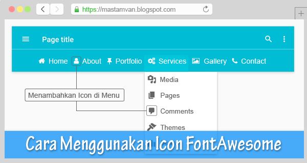 memasang icon di menu navigation bar