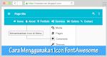Cara Menambahkan Icon di Menu Bar dengan Font Awesome