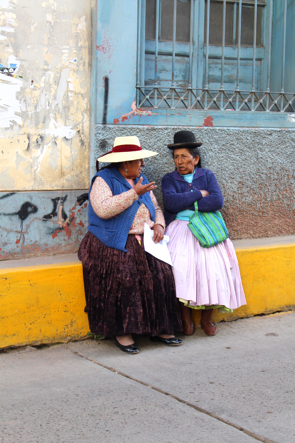 Traditional dress in Puno, Peru - travel blog