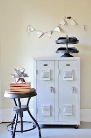 Bookcase turned lockers