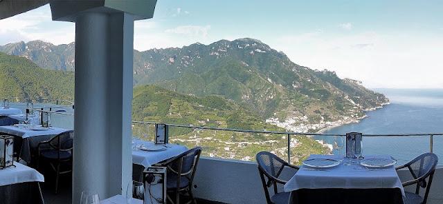 Jantar no Al Ristoro del Moro em Ravello