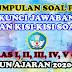 KUMPULAN SOAL PAT, KUNCI JAWABAN, DAN KISI-KISI SOAL KELAS I, II, III, IV, V, DAN VI TAHUN AJARAN 2020-2021