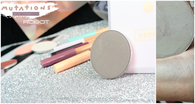 ROBOT   swatches ombretto - Collezione Mutations -Neve cosmetics