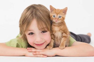 Boy with a kitten