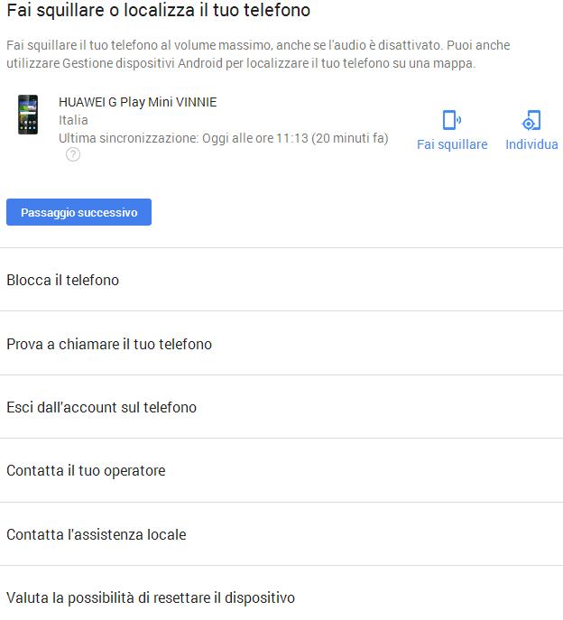 localizzazione cellulare android google