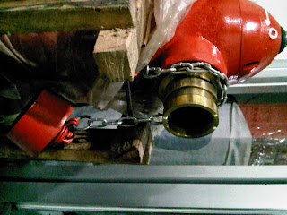 Hydrant Pillar Two Way machino coupling tampak samping