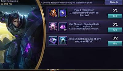 Skin Legend Alucard Obsidian Blade Mobile Legends
