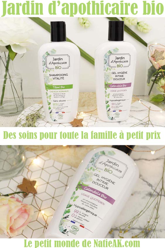 shampoing et gel hygiène intime Jardin d'apothicaire avis