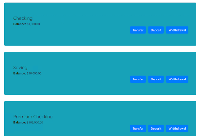 ACME Banking screenshot
