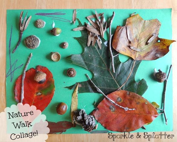Sparkle and Splatter Nature Walk Collage