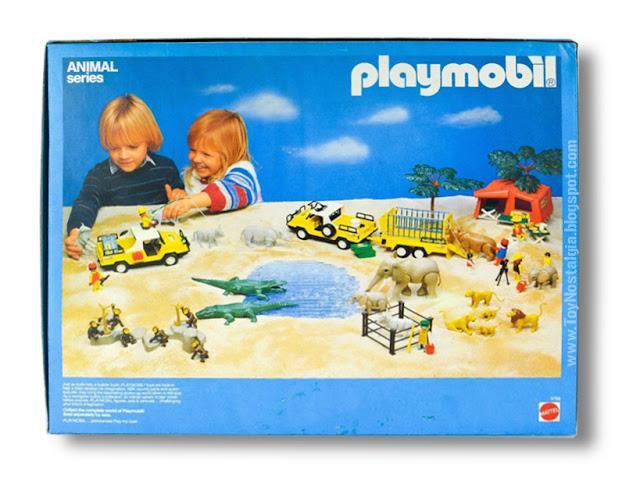 Playmobil Mattel Animal Series Safari Scene back