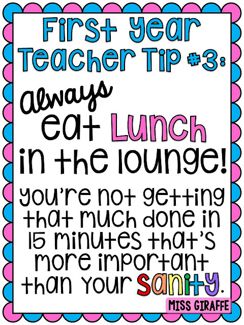 First Year Teacher Tips and Advice #3 Always eat lunch in the teacher's lounge - I explain why!